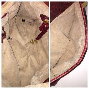 Brahmin Bags - BRAHMIN New Melbourne scarlet croc-embossed bag